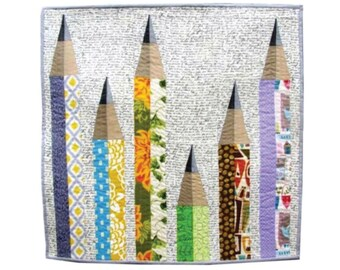 "PENCIL ME IN Mini Quilt Pattern | 25"" x 25"" (62.5 cm x 62.5 cm)"