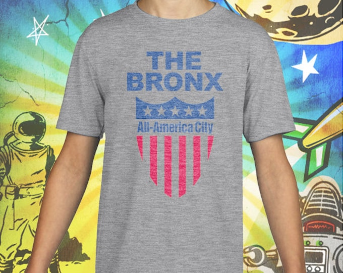 The Bronx All / America City / Gray Child Size Performance T-Shirt