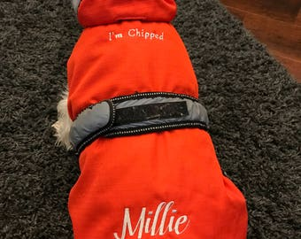Personalised 2 in 1 Dog Coats by Danish Design, dog coats, pet coats, dog raincoats, Waterproof Dog Coats