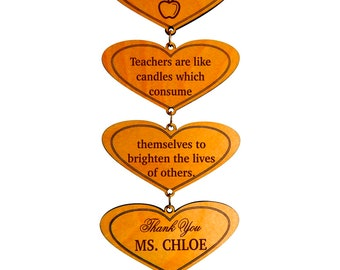 Teacher Presents - Gifts for Teachers - Personalized Teacher Plaque from Student - End of Year Teacher Gift from Class - Best Teacher Gift