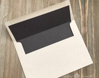 Woodgrain Lined Envelopes - kraft lined envelopes - rustic wedding - diy wedding invitation envelopes - woodgrain envelopes