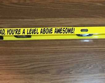 Personalized Father's Day Gift / Father's Day Level / Gift for Him / Gift for Dad / You're a level above Awesome  / Fathers Day Gift