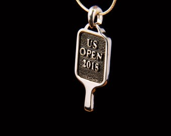 US Open sterling silver Pickleball Paddle necklace