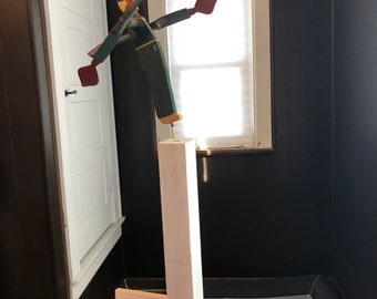 Antique Maritime Wooden Folk Art Whirligig Soldier