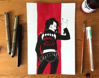 Vampire party Harder-original illustration-Inktober, Day 14