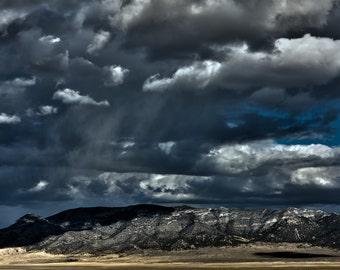 Before The Storm, Nevada, Desert, Landscape, Travel, Giclée Print, Archival, Photograph, Color, Storm