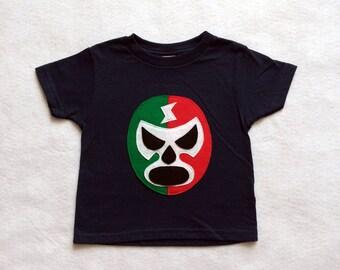 Mexican Wrestler Kids T-shirt - Luchador Rojo + Verde - Lucha Libre - Kids T-Shirt