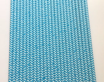ROYAL BLUE CHEVRON Paper Straws / Party Straws / Party Decor / Chevron Straws / Paper Party Straws / Blue Straws / Drinking Straws
