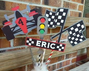 Race Car Birthday Centerpiece