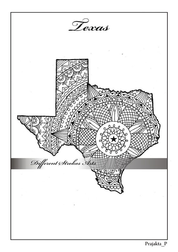 adult coloring maps texas map states maps coloring pages us map coloring pages for adults henna doodles pages patriotic printable art