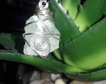 Green Fluorite Crystal w. Pyrite