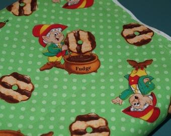 3/4 Yard Keebler Elf Fudge Cookies 100% Cotton Fabric NEW