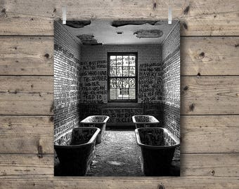 Manteno State Hospital / An Abandoned Asylum in Manteno, Illinois / Black and White Photography Print