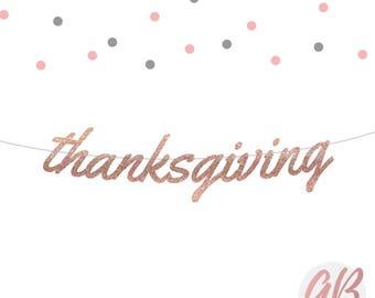 Holiday decor | Holiday garland | Thanksgiving banner | Thanksgiving decor | Glitter banner | Fall banner | Autumn decor | Fall garland