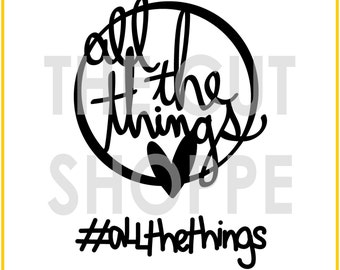 The All the Things cut file consists of two word phrases, that can be used on your scrapbooking and papercrafting projects.