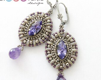 J'adore earrings - instant download beading pattern