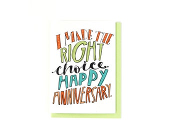 Happy Anniversary Card - I Love You Card - Love Card - Anniversary Gift - Anniversary Greeting Card - Long Distance Relationships