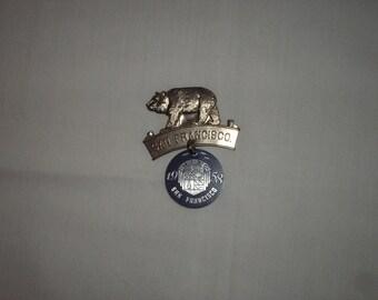 Souvenier pin 1958 San Francisco WIBC