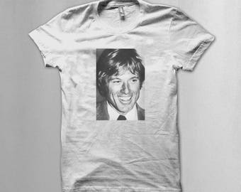 "Robert Redford 70s ""All the presidents men"" T shirt"