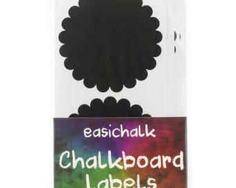 12 Large Doily Chalkboard labels