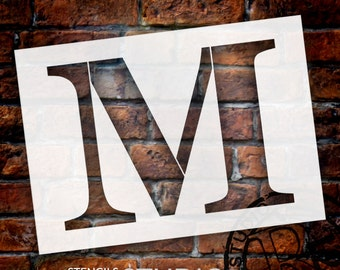 M -Monogram Letter Stencil - Select Size - STCL1726 - by StudioR12