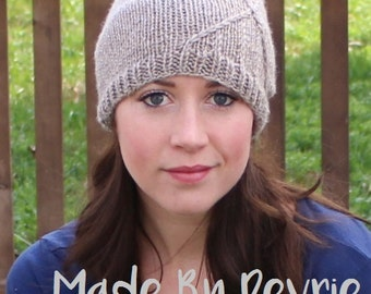 DIGITAL Download, Knit Hat Pattern,Knitting PATTERN, Knitted hat, Knitted slouch hat, Knitted slouchy hat, Knitting pattern
