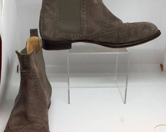 Hermes vintage Hermes vintage black leather ankle boots suede leather suede boots