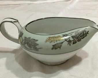 Noritake Japan SILVINE #5487 Creamer Pitcher fall pattern Vintage