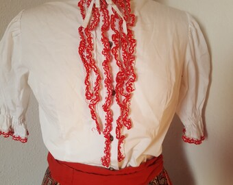 1960s boho peasant blouse