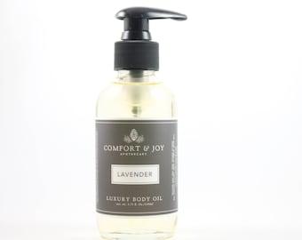 Lavender Body Oil, Bath Oil, All Natural Body Oil