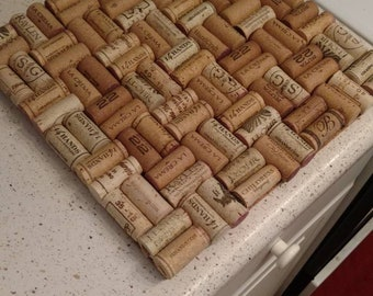 "12""x12"" wine cork trivet (hot pad)"