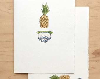Birthday Card Pineapple Upside-down Cake