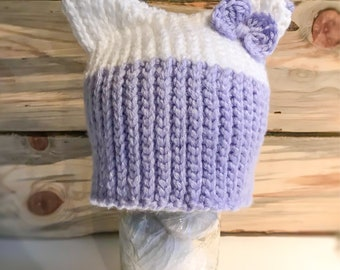 Kitty Ear Hat with bow
