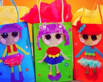 Lalaloopsy  Doll  party bags, Party Favor Bags