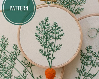 Round Romeo Carrot Embroidery Pattern