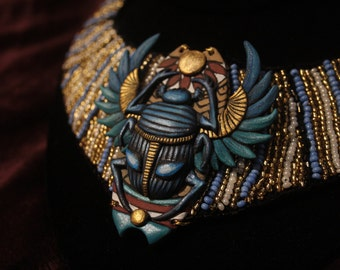 Scarab Necklace Ancient Egypt Jewelry