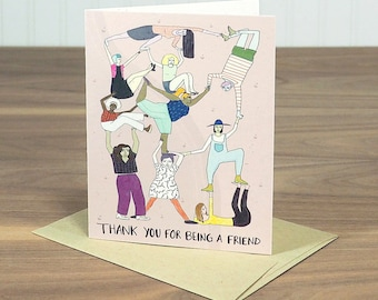 Thank You Friend - blank notecard