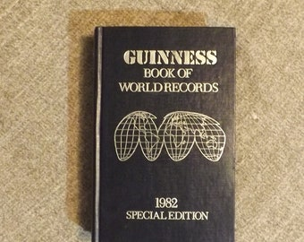1982 Special Edition Guinness Book of World Records, Hardcover, by Norris McWhirter