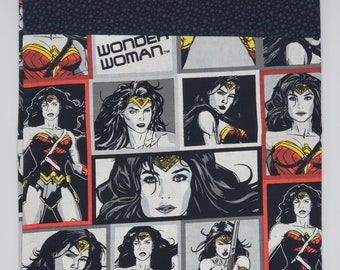 Wonder Woman Cotton Pillowcase, DC Comics, Superhero Bedding, Personalized Gift for Her and Him Birthday Gift, Mothers Day, Girlfriend
