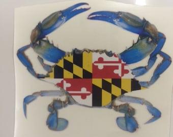 Maryland Blue Crab Vinyl Sticker/Decal