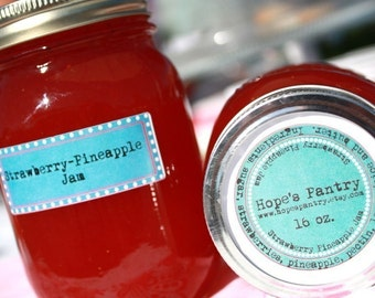 16oz. jar Strawberry-Pineapple jam homemade unique flavor