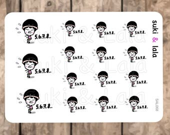SQUATS Planner Stickers, Exercise Planner Stickers, Butt Workout Planner stickers, Planner Stickers, Gym Planner Stickers (SAL068)