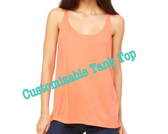 Customizable Tank Top, Designed by You for You, Tops