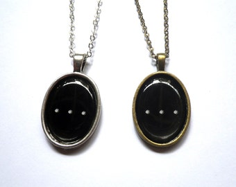 Ellipsis Necklace: punctuation mark resin cabochon pendant