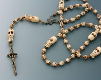 Wearable Skull Rosary, Joan of Arc Center.
