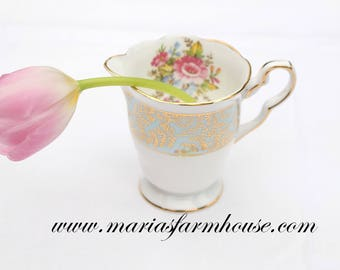 CREAMER, Mid Century English Bone China Creamer by Royal Stafford, Replacement China, Tea Party Decor, Gifts for Her