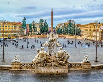 Piazza del Popolo, Rome, Italy Photo Print