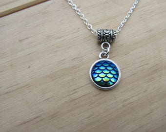 Mermaid Blue Scales Necklace