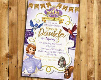 Sofia the First Invitation,  Sofia the First Birthday Invitation, Sofia the First Party,  Princess Sofia Thank You  MSO_1