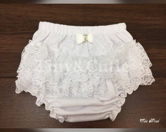 Lace Newborn Ruffled Baby Bloomers Diaper Cover!!!!